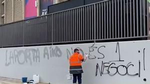 Pintadas a los alrededores del Camp Nou