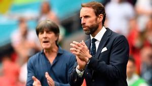 Southgate y Löw durante la Eurocopa