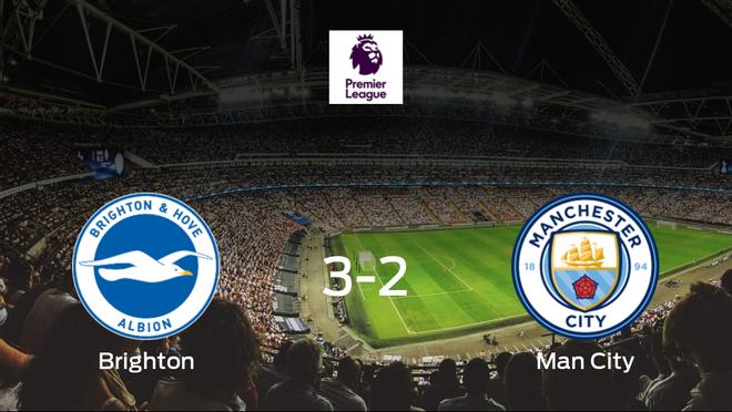 El Brighton and Hove Albion consigue la victoria en casa ante el Manchester City (3-2)