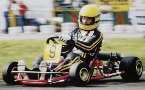 Senna, con el kart número 9 en 1981
