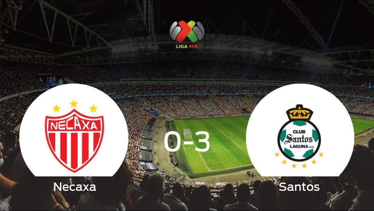 El Santos Laguna le arrebata los tres puntos al Necaxa (0-3)