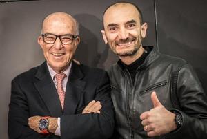 Carmelo Ezpeleta, CEO de Dorna y Claudio Domenicali, CEO de Ducati