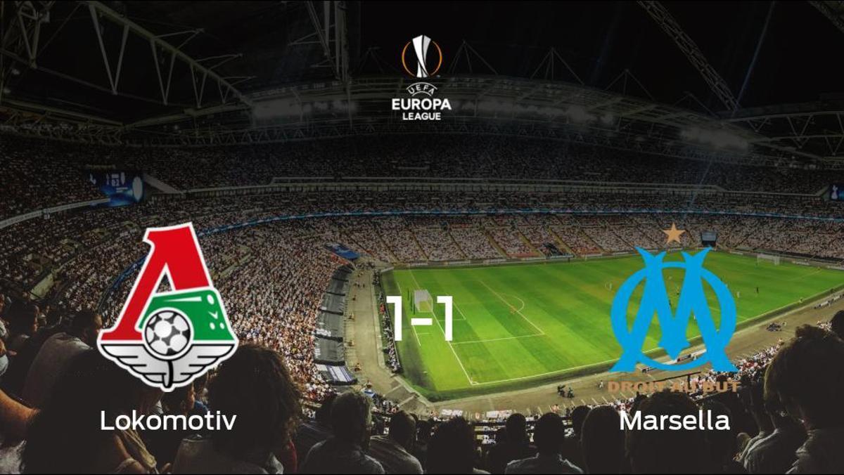 El Lokomotiv Moscú y el Olympique de Marsella reparten los puntos tras empatar a uno