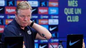 Ronald Koeman, entrenador del Barça, en rueda de prensa