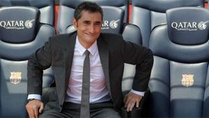 Ernesto Valverde, destituido hace un año como entrenador del Barça
