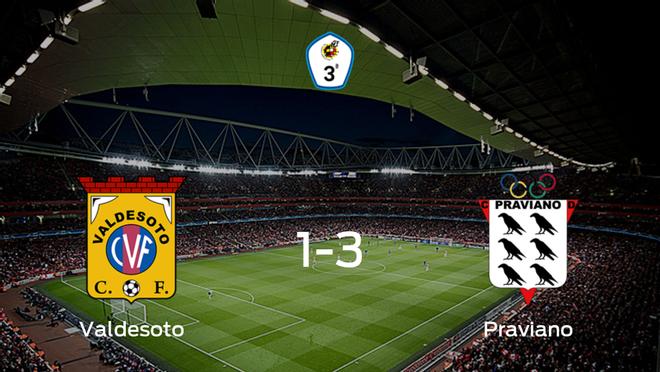 El Praviano se lleva los tres puntos frente al Valdesoto (1-3)