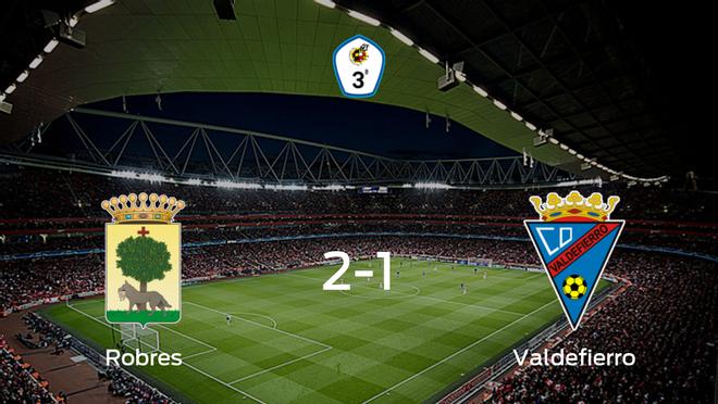 El Robres gana 2-1 en su estadio frente al Valdefierro