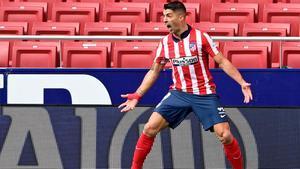 Luis Suárez abrió el marcador ante el Real Madrid