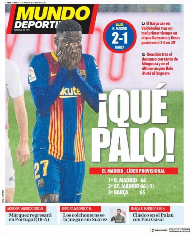 Portada Mundo Deportivo 11 de abril