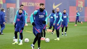 El Barça, en una sesión de entrenamiento