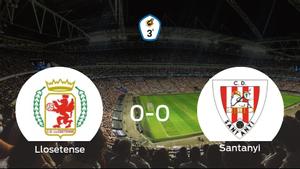 El Llosetense y el Santanyi empatan sin goles en el Municipal de Lloseta (0-0)