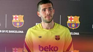 Sergi Roberto atendió a los medios del FC Barcelona