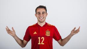 Eric García, en una foto especial para la Eurocopa del 2021