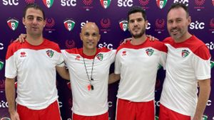 De izquierda a derecha, Carlos Antón, Andrés Carrasco, David Rodríguez y David Pérez