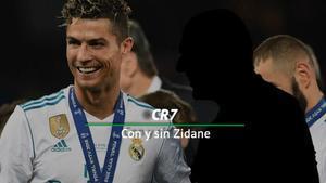 Los números de Cristiano en el Real Madrid con y sin Zidane