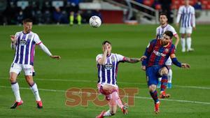 Leo Messi en el partido de LaLiga entre el FC Barcelona y el Valladolid disputado en el Camp Nou.