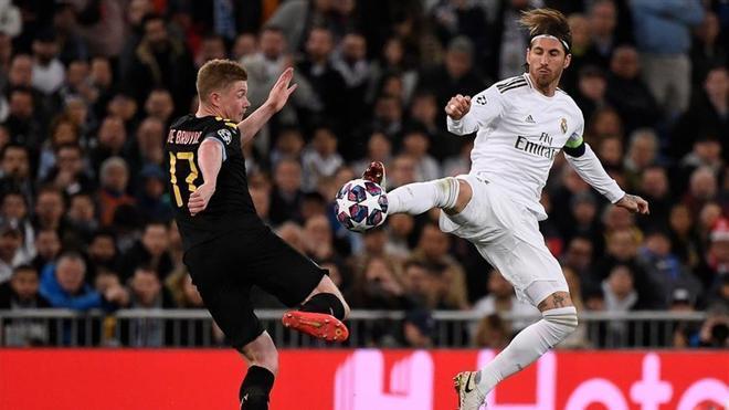 El City se impuso en la ida por 1-2 en el Bernabéu
