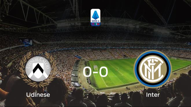 El Udinese y el Inter se reparten los puntos en un partido sin goles (0-0)