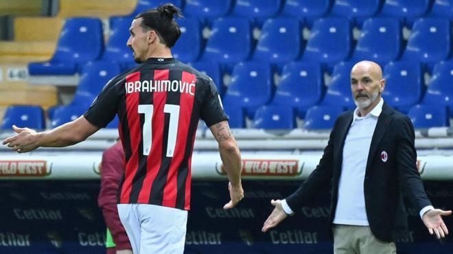 Ibrahimovic, durante el encuentro
