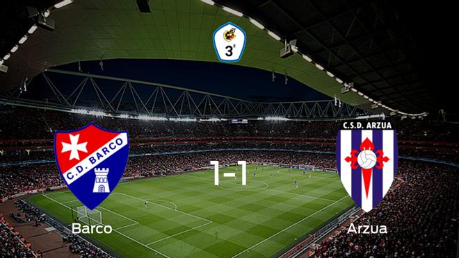 El CSD Arzua logra un empate frente al Barco (1-1)