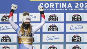 Corinne Suter, medalla de oro de descenso