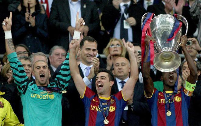 Abidal levantó la cuarta Champions del Barça en Wembley