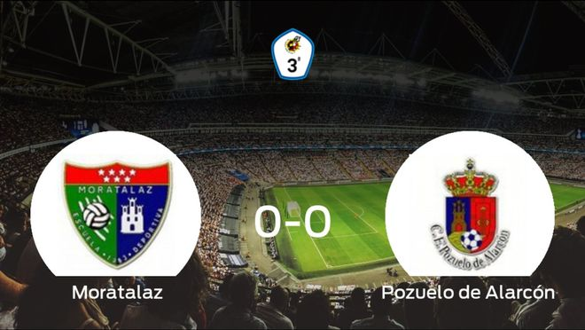 El Moratalaz y el Pozuelo de Alarcón empatan sin goles en el Campo Dehesa de Motaralaz (0-0)