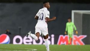 Vinicius marcó el 2-3 ante el Shakhtar
