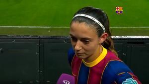 Aitana: Estoy muy orgullosa de este equipo. Nos lo merecemos