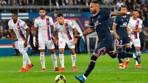 Neymar anotó el gol del empate ante el Lyon
