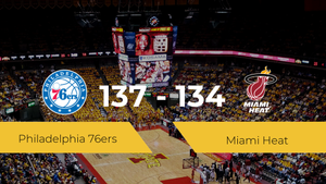 Philadelphia 76ers derrota a Miami Heat (137-134)