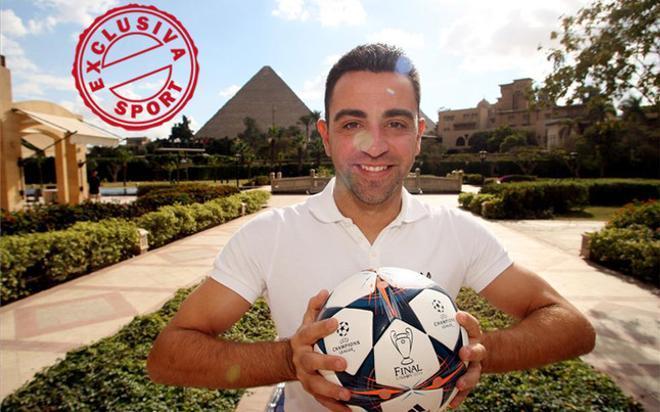 Xavi aprovechó para visitar las míticas pirámides en el valle de Gizah