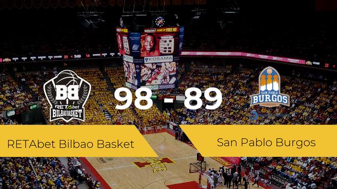 El RETAbet Bilbao Basket se queda con la victoria frente al San Pablo Burgos por 98-89