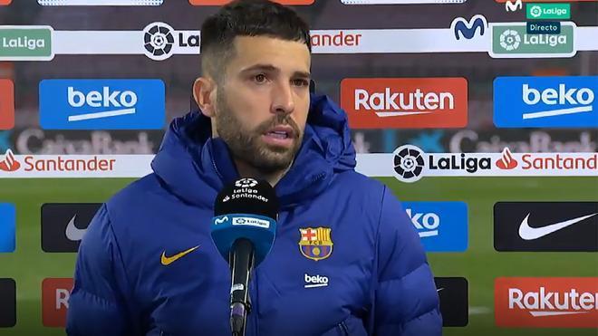 Jordi Alba: Ha sido un palo muy duro