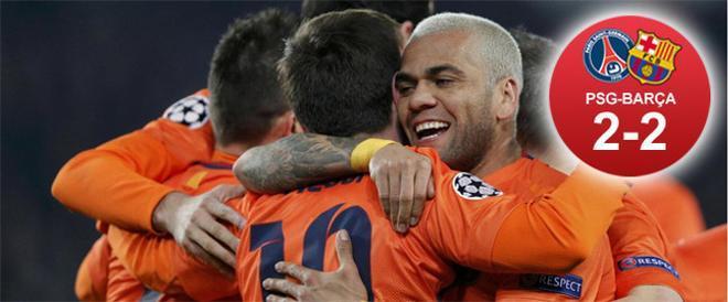 El Barça sufrió sobre el Parque de los Príncipes para cosechar un empate que le permite seguir soñando con las semifinales de la Champions