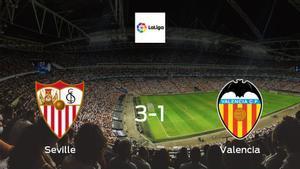 Valencia succumb to Seville with 3-1 defeat at the Estadio Ramon Sanchez Pizjuan