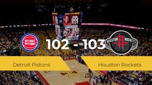 Houston Rockets vence a Detroit Pistons por 102-103