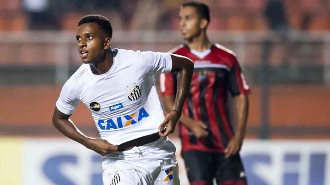 Rodrygo, extremo del Santos, es la nueva sensación del fútbol brasileño