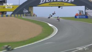 Marini ha salido por orejas en la curva 5 de Le Mans