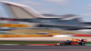 Max Verstappen, en acción este viernes en Silverstone