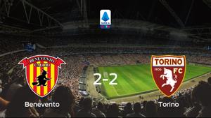El Benevento y el Torino reparten los puntos tras empatar a dos