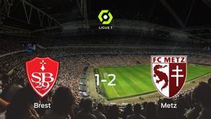 El FC Metz logra una ajustada victoria ante el Brest (1-2)