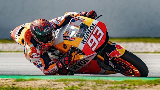 Marc Márquez, durante su test con la Honda en el Circuit, el pasado martes
