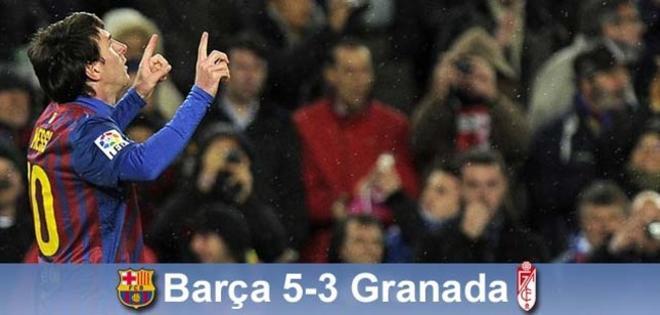 Messi hizo historia ante el Granada