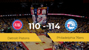 Philadelphia 76ers se impone por 110-114 frente a Detroit Pistons