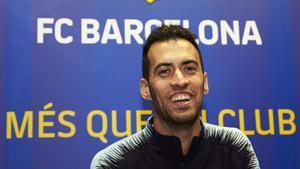 Sergio Busquets, durante la entrevista con SPORT por sus 500 partidos con el Barça