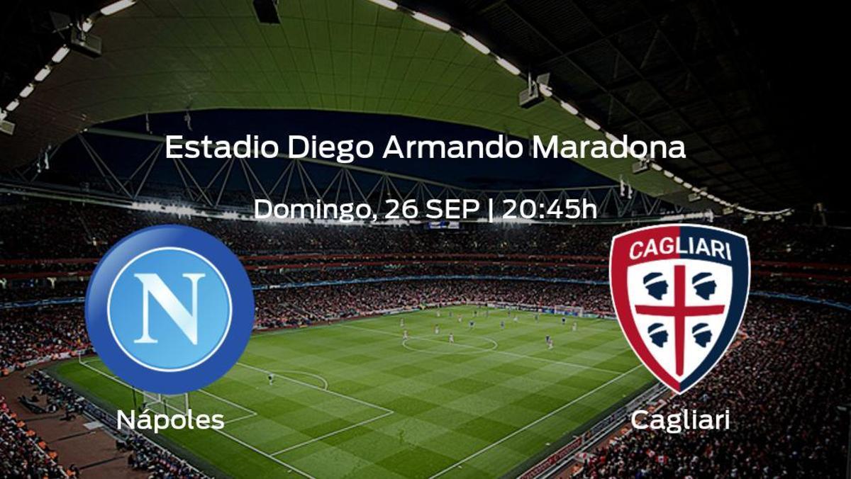 Previa del encuentro: el Nápoles recibe al Cagliari en la sexta jornada