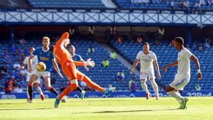 Rodrygo marcó el 0-1 en el único remate en los primeros 45 minutos