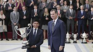 Nairo Quintana, junto al Rey