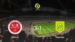 El Stade de Reims vence 3-1 al FC Nantes y se lleva los tres puntos